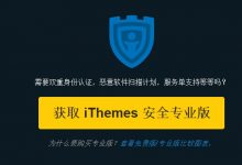 wordpress安全插件iThemes Security使用经验分享-wordpress安装