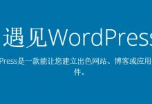 wordpress网站建站流程分享,新手必看-WordPress建站
